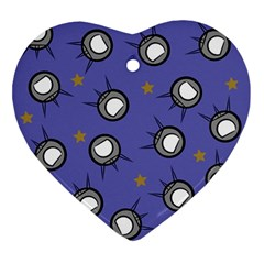 Rockets In The Blue Sky Surrounded Ornament (heart) by Simbadda