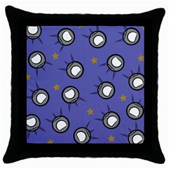 Rockets In The Blue Sky Surrounded Throw Pillow Case (black) by Simbadda