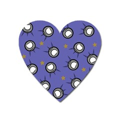 Rockets In The Blue Sky Surrounded Heart Magnet by Simbadda