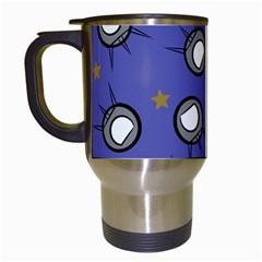 Rockets In The Blue Sky Surrounded Travel Mugs (white) by Simbadda