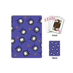 Rockets In The Blue Sky Surrounded Playing Cards (mini)  by Simbadda