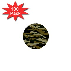 Military Vector Pattern Texture 1  Mini Buttons (100 Pack)  by Simbadda