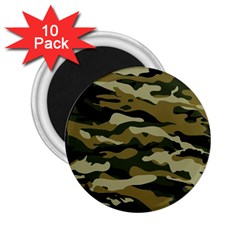 Military Vector Pattern Texture 2 25  Magnets (10 Pack)  by Simbadda
