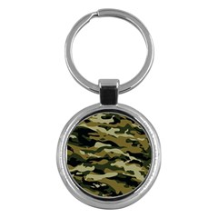 Military Vector Pattern Texture Key Chains (round)  by Simbadda