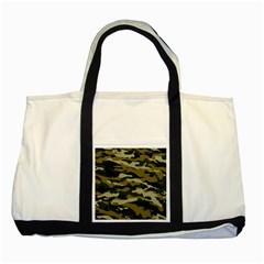 Military Vector Pattern Texture Two Tone Tote Bag by Simbadda
