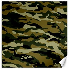 Military Vector Pattern Texture Canvas 16  X 16   by Simbadda