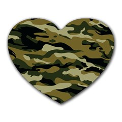 Military Vector Pattern Texture Heart Mousepads by Simbadda