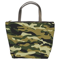 Military Vector Pattern Texture Bucket Bags by Simbadda