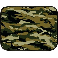 Military Vector Pattern Texture Fleece Blanket (mini) by Simbadda