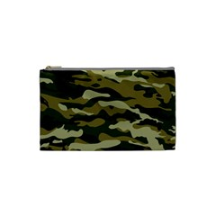 Military Vector Pattern Texture Cosmetic Bag (small)  by Simbadda