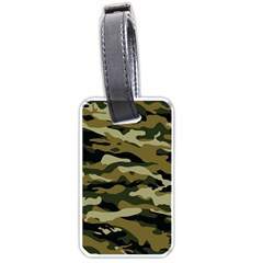 Military Vector Pattern Texture Luggage Tags (one Side)  by Simbadda