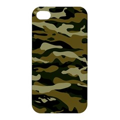Military Vector Pattern Texture Apple Iphone 4/4s Hardshell Case by Simbadda