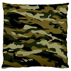 Military Vector Pattern Texture Large Cushion Case (two Sides) by Simbadda