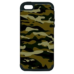 Military Vector Pattern Texture Apple Iphone 5 Hardshell Case (pc+silicone) by Simbadda
