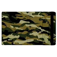 Military Vector Pattern Texture Apple Ipad 3/4 Flip Case by Simbadda