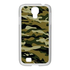 Military Vector Pattern Texture Samsung Galaxy S4 I9500/ I9505 Case (white) by Simbadda