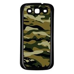 Military Vector Pattern Texture Samsung Galaxy S3 Back Case (black) by Simbadda