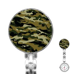 Military Vector Pattern Texture Stainless Steel Nurses Watch by Simbadda
