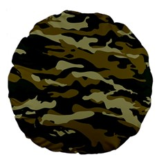 Military Vector Pattern Texture Large 18  Premium Flano Round Cushions by Simbadda