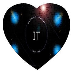 This Is An It Logo Jigsaw Puzzle (heart) by Simbadda