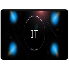 This Is An It Logo Double Sided Fleece Blanket (large)  by Simbadda