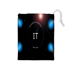 This Is An It Logo Drawstring Pouches (medium)  by Simbadda