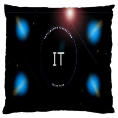 This Is An It Logo Large Flano Cushion Case (one Side) by Simbadda