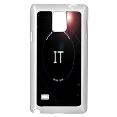 This Is An It Logo Samsung Galaxy Note 4 Case (white) by Simbadda