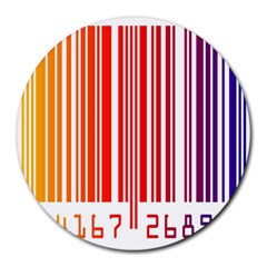 Colorful Gradient Barcode Round Mousepads by Simbadda
