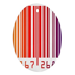 Colorful Gradient Barcode Ornament (oval) by Simbadda