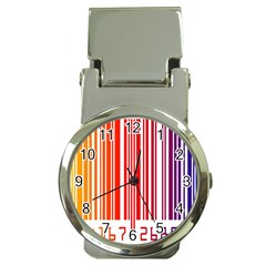 Colorful Gradient Barcode Money Clip Watches by Simbadda