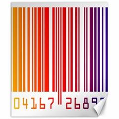 Colorful Gradient Barcode Canvas 8  X 10  by Simbadda