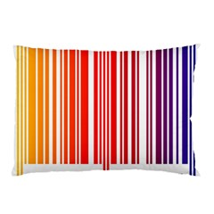 Colorful Gradient Barcode Pillow Case by Simbadda