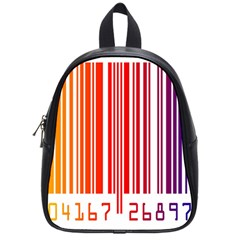 Colorful Gradient Barcode School Bags (small)  by Simbadda
