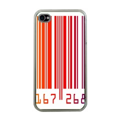 Colorful Gradient Barcode Apple Iphone 4 Case (clear) by Simbadda