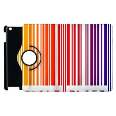 Colorful Gradient Barcode Apple Ipad 2 Flip 360 Case by Simbadda