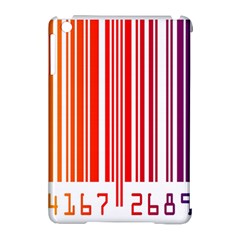 Colorful Gradient Barcode Apple Ipad Mini Hardshell Case (compatible With Smart Cover) by Simbadda