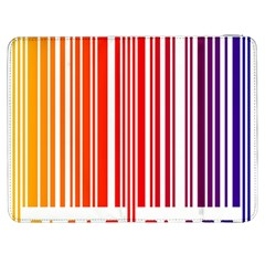 Colorful Gradient Barcode Samsung Galaxy Tab 7  P1000 Flip Case by Simbadda