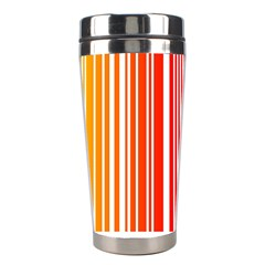 Colorful Gradient Barcode Stainless Steel Travel Tumblers by Simbadda