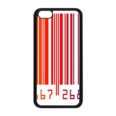 Colorful Gradient Barcode Apple Iphone 5c Seamless Case (black) by Simbadda
