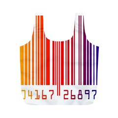 Colorful Gradient Barcode Full Print Recycle Bags (m)  by Simbadda