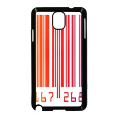 Colorful Gradient Barcode Samsung Galaxy Note 3 Neo Hardshell Case (black) by Simbadda