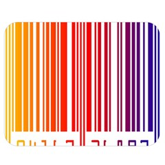 Colorful Gradient Barcode Double Sided Flano Blanket (medium)  by Simbadda