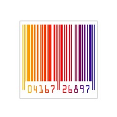 Colorful Gradient Barcode Satin Bandana Scarf by Simbadda