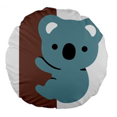 Animal Koala Large 18  Premium Round Cushions by Alisyart