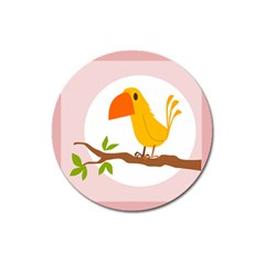 Yellow Bird Tweet Magnet 3  (round) by Alisyart
