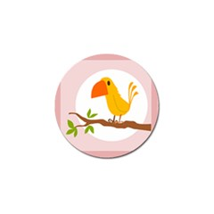 Yellow Bird Tweet Golf Ball Marker by Alisyart