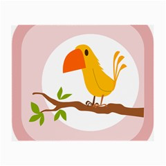 Yellow Bird Tweet Small Glasses Cloth by Alisyart