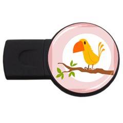 Yellow Bird Tweet Usb Flash Drive Round (4 Gb) by Alisyart