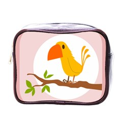 Yellow Bird Tweet Mini Toiletries Bags by Alisyart